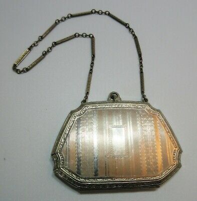 Antique Engine Turned Compact Wristlet