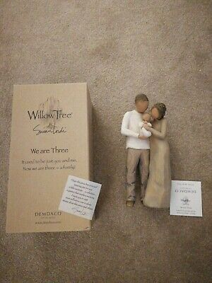 Willow Tree figure #27268 We Are Three. New Home or New Baby Gift. Boxed.