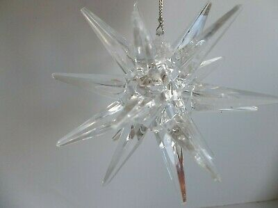 3D Clear Acrylic Moravian Star Ornament or Candle Holder Christmas Tree Topper