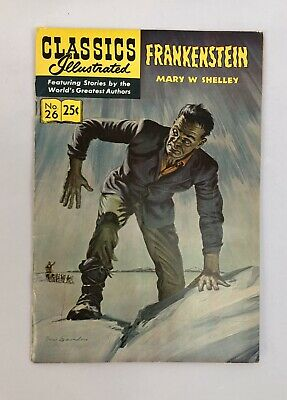 Classics Illustrated Vintage Comic Book #26 Frankenstein Mary Shelley HRN 169