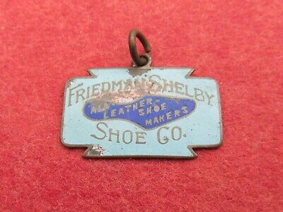 1910 Friedman Shelby Shoes RED GOOSE pin pendant enameled