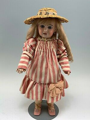 """17.5"""" Tete Jumeau French Bisque Doll in Nice Antique Costume, Jumeau Compo Body"""