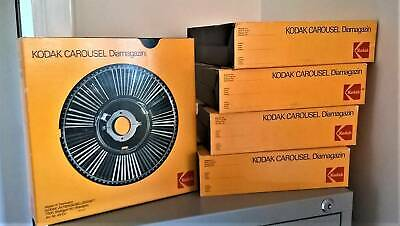 Kodak Carousel Diamagazins (5) to fit Carousel series S projector excellent cond