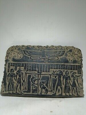 RARE ANCIENT EGYPTIAN ANTIQUE Stela Afterlife Judgement Relief 1280-1253 Bc