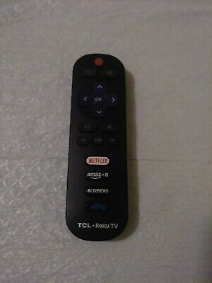 Used RC280 LED HDTV Remote for TCL ROKU TV with HBONOW Sling Netflix Amazon