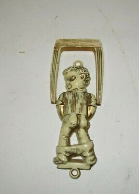 Vintage Cast Metal Door Knocker - Boy Peeing Backside