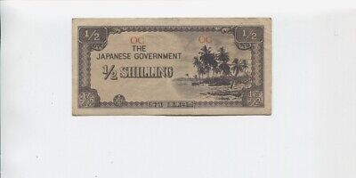 1940's Japanese Government 1/2 Shilling Banknote Invasion A-783