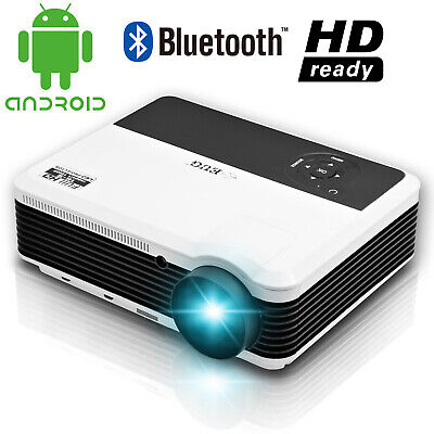 HD Android Smart Projector LED Bluetooth Home Theater Party for Youtube HDMI USB