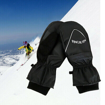 Ski Mittens Snow Snowboard Winter Warm Thermal Men Gloves Windproof Waterproof