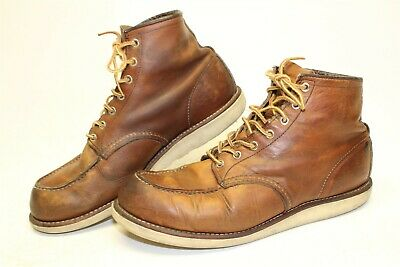 Red Wing Shoes Moc Toe 4575 Mens 11.5 45 DISTRESSED Leather USA Made Work Boots