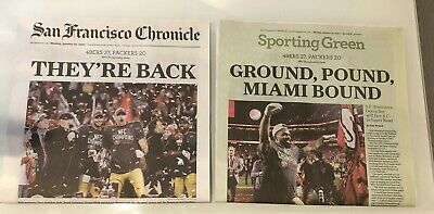 San Francisco 49ers 1/20/2020 San Francisco SF Chronicle Newspaper THEY'RE BACK