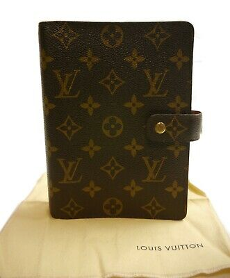 Authentic LOUIS VUITTON Agenda MM notebook cover PVC #550