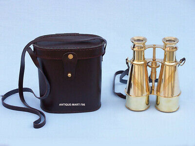 Brass Nautical Binocular Marine Collectible Maritime Binocular With Box
