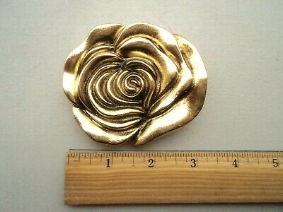 Vintage RARE Gold Color Robbie French Floral Belt Buckle Made in USA
