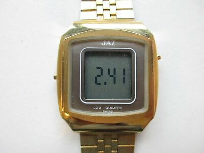 JAZ cal. ESA 934.832 Y2 LCD Swiss 1970's watch - running
