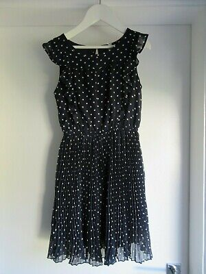 Girls Next Blue White spotted polka dot pleated skirt party dress 8 yrs 128cm