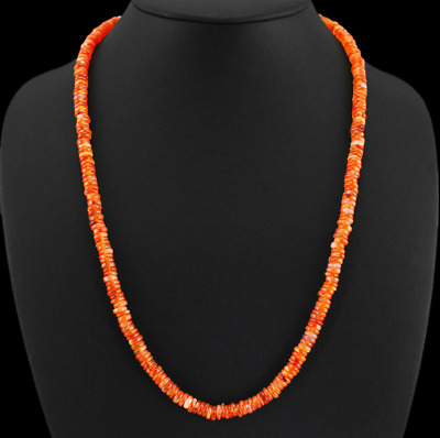 150.00 Cts Natural Orange Carnelian Beads Necklace