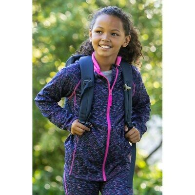 Mountain Warehouse Girls Hoodies Fully Lined Hood with Ribbed Hem and Cuffs