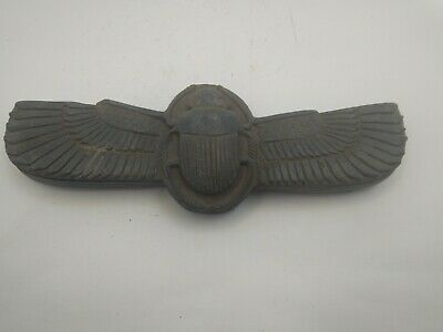 RARE ANTIQUE ANCIENT EGYPTIAN Winged Scarab Beetle 664 - 332 Bc