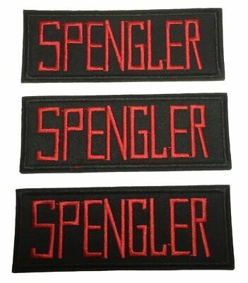 Ghostbusters Spengler Name Tag Embroidered Iron on Patch Set of 3