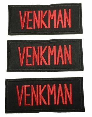 Ghostbusters Venkman Name Tag Embroidered Iron on Patch Set of 3
