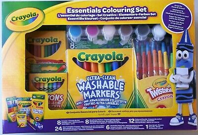 Crayola Essentials Colouring Set Art & Craft Crayons Markers Colouring Pens
