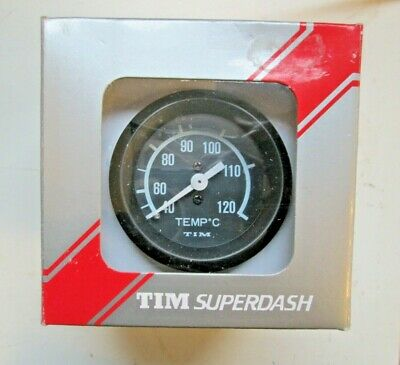 TIM SUPERDASH Water Temperature Gauge Kit Fittings Pre-Wired 700004 NEW