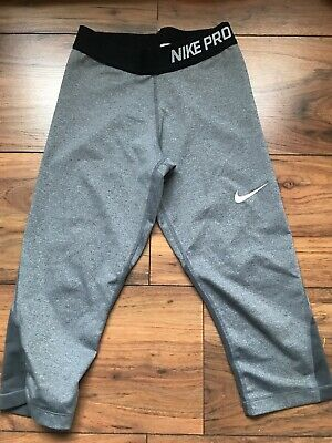 Nike Pro Jogging/ Sports Leggings Age 10-12 Dri-fit - Barely Worn. Grey