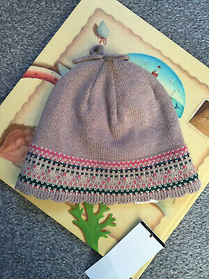 BNWT Next Baby Girl Pink/Light Brown Hat 1-2 Years (more 6-18 Months)