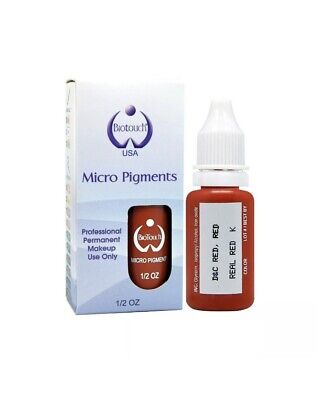 Biotouch permanent cosmetic Tattoo Microblading Pigment 0.5 Oz Real Red
