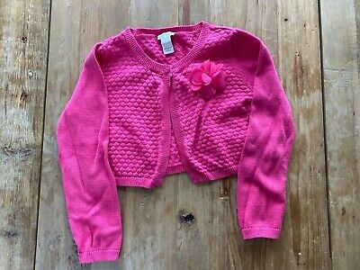 Monsoon Girls Pink Bolero Cardigan with Removable Flower Corsage Age 5-6
