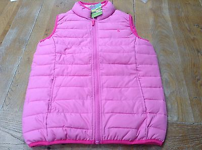 Joules Pink Fondant Padded Gilet Jacket. Age 9 To 10 Years. New With Tag.