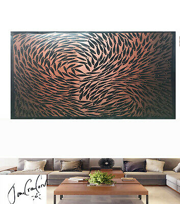 original Art oil Painting Australia abstract large Fish by Jane modern