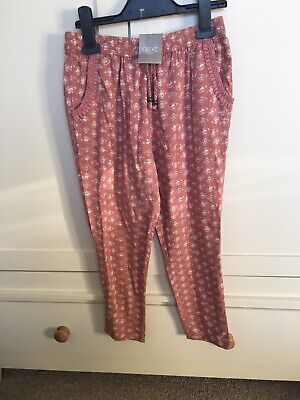 Next Girls Pink trousers age 8 BNWT