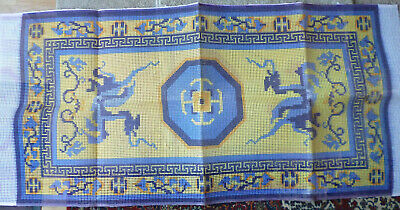 "latch hook rug kit ""Chinese Dragon"" An original Readicut design in acrylic with"