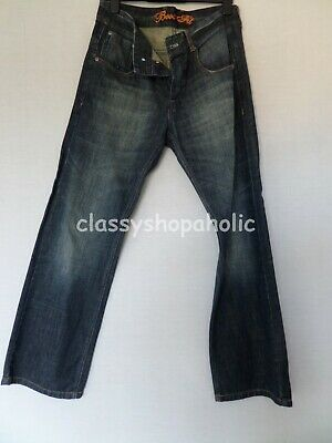 Next Boot Leg Dark Blue Faded Jeans - Size 32R - Worn Once