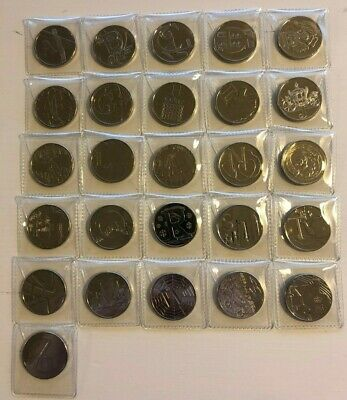 FULL SET Alphabet Ten Pence 10p 2019 UNCIRCULATED A to Z Coins Free P&P