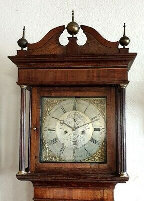 A beautiful Georgian Oak, Mahogany & Inlaid Longcase Grandfather Clock C1770