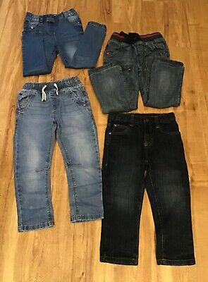 Four Pairs of Boys Blue Denim Jeans - Age 3-4 NEXT & CALVIN KLEIN