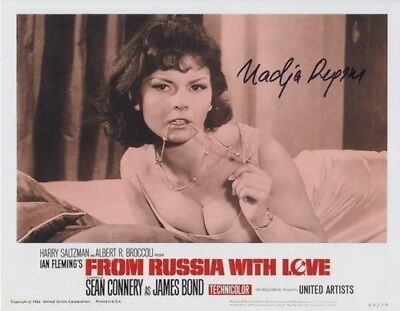 Nadja Regin 007 James Bond Authentic Autograph Bond Girl From Russia With Love!