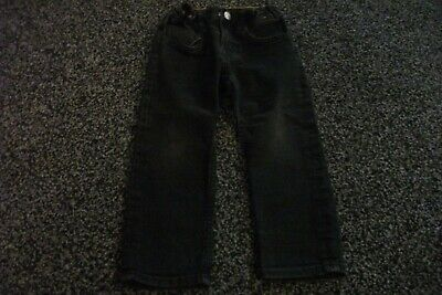 H&M boys slim fit black denim jeans with adjustable waist size 2-3 years