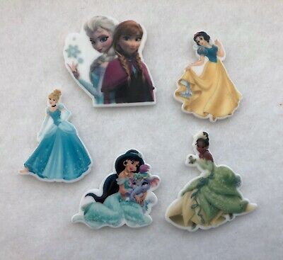 5 Flat Back Cabochons Resin Crafts Embellishments Scrap Booking Disney Character