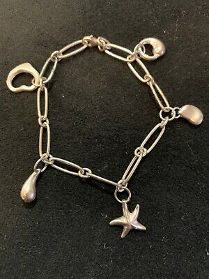 Charm Bracelet Similar To Tiffany & Co Design Sterling Silver