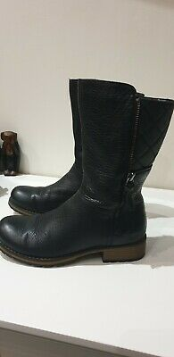 Girls Clarks Black Leather Boots Size 13G 13 G Great Condition.