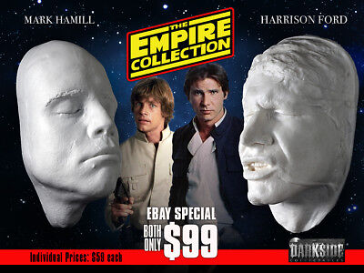 EMPIRE COLLECTION HAMILL & FORD CARBON LIFE-SIZE Life Casts in Lightweight Resin