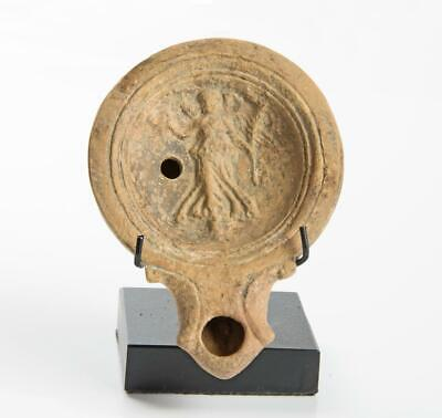 Roman Oil Lamp with Winged Victory: 1st century AD.