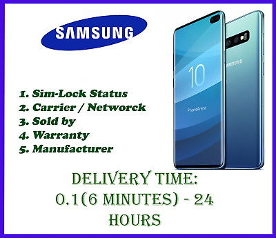 Samsung IMEI Check - Sim Lock Status - Carrier- Warranty status