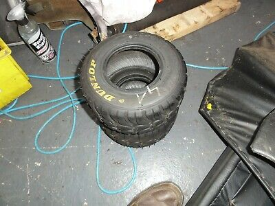 Used set of front Dunlop W11 wet tyres.