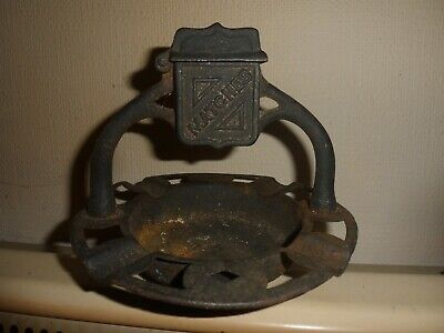 Antique/Vintage Metal Ashtray With Match Holder