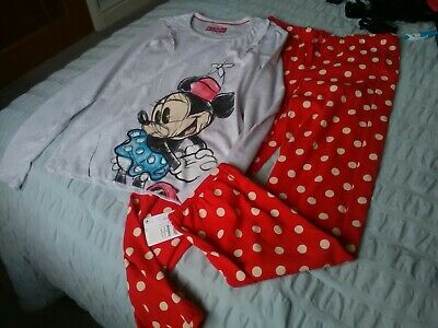New Marks & Spencer Girls Disney Pyjamas Age 9-10 Yrs Chest 28-5""